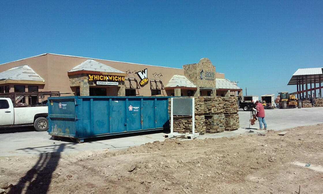 Which Wich and Jacks under construction on Knickerbocker Rd. at Loop 306