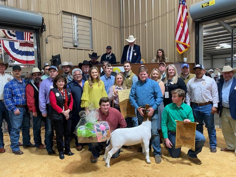 2020 Reserve Grand Champion Goat Mason Hutto/Eldorado FFA (LIVE! Photo/Yantis Green)