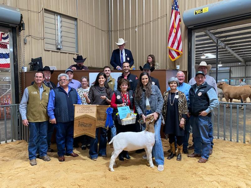 2020 Grand Champion Market Goat by Hallie Thompson.  (LIVE! Photo/Yantis Green)