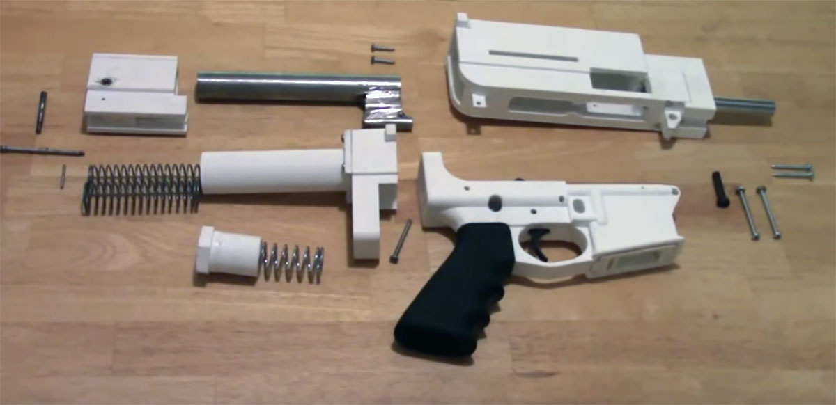 The printed 3D gun parts. (Contributed/Kendal Hemphill)