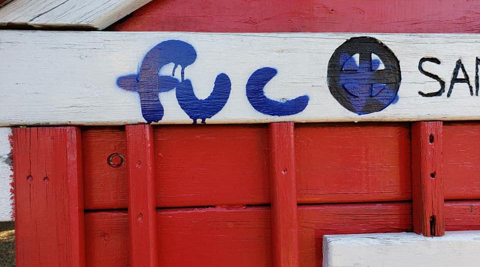 Graffiti at Kids Kingdon(Photo Courtesy of LIVE Reader Jennifer Schoppe)