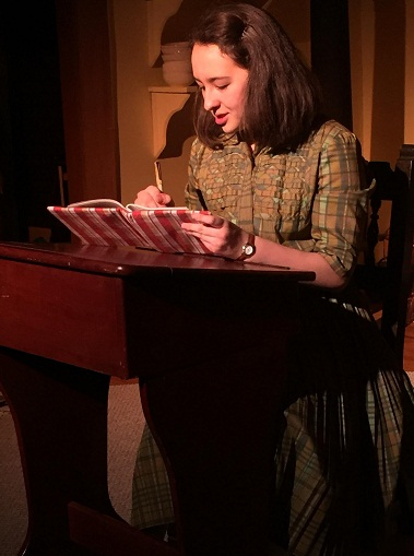Anne Frank is played by Esther Whited (Photo courtesy Be theatre)