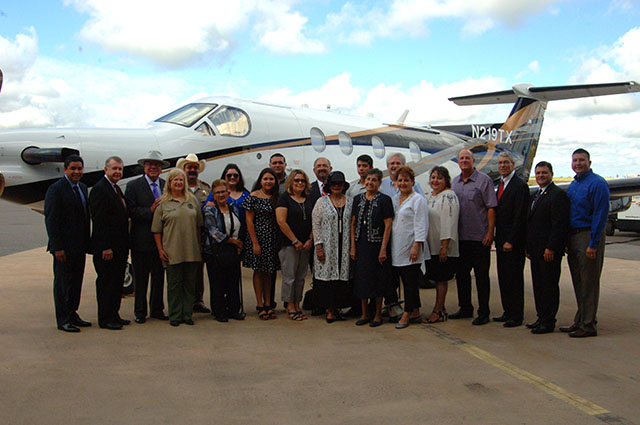 New DPS airplane, Pilatus PC-12 NG, dedicated to late Trooper Ernesto Alanis (Photo Courtesy of DPS)