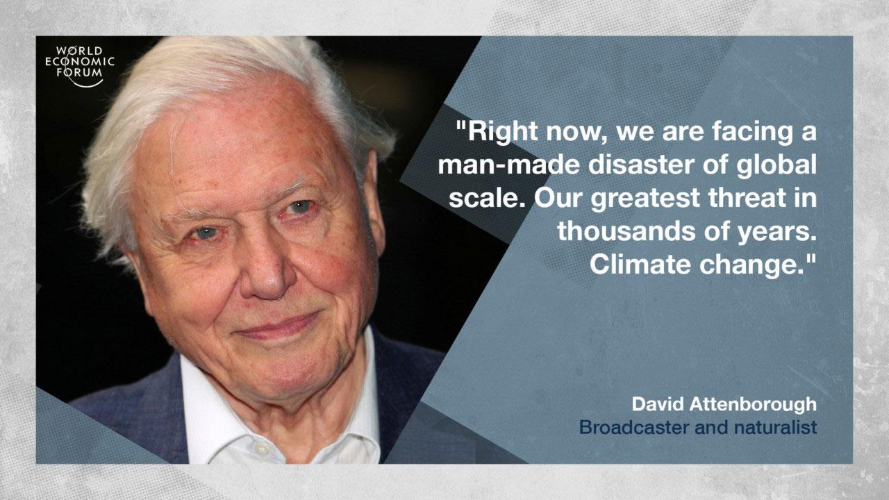 Attenborough seems to be a 'glass half empty' kind of a guy. (K Hemphill)