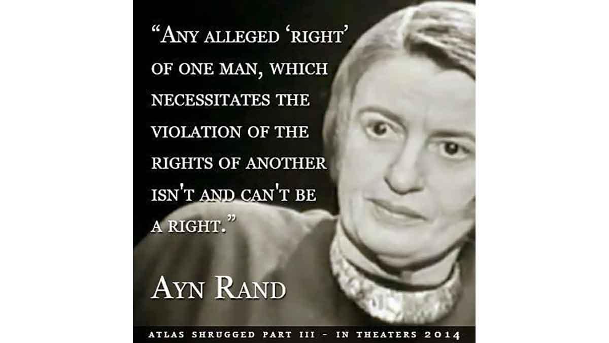 Ayn Rand wrote 'Atlas Shrugged' (Contributed/Ayn Rand)