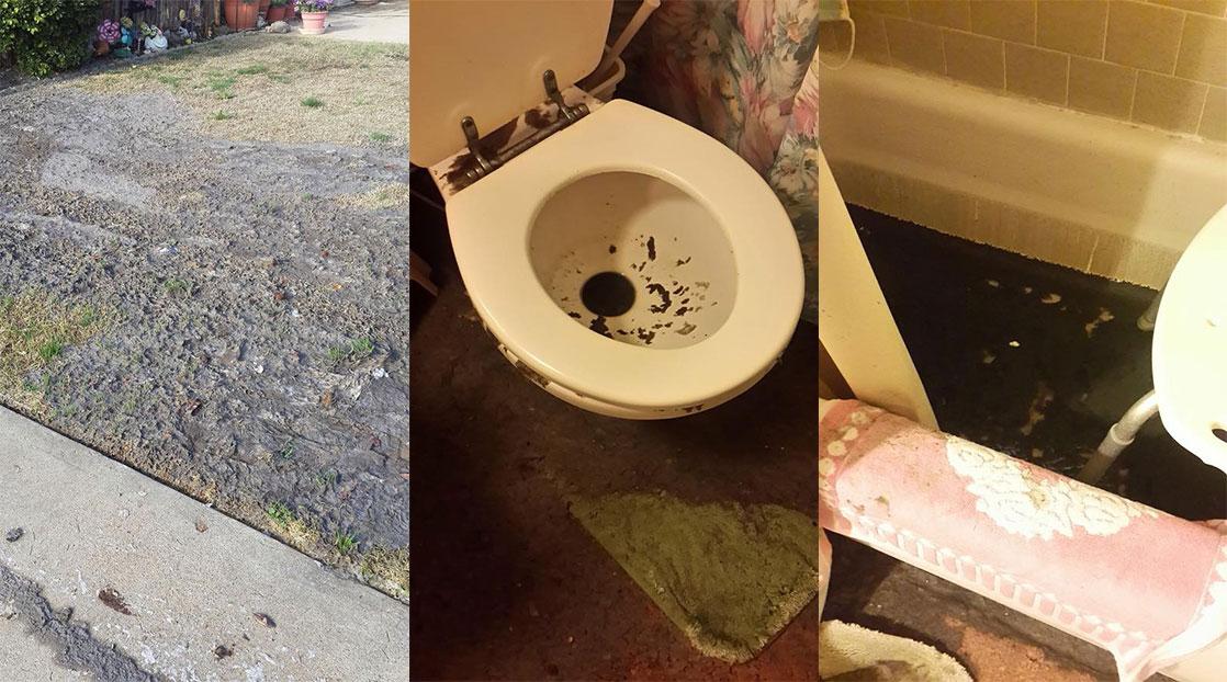 San angelo widow grapples with city sewage backing up into for Sewage backing up into house