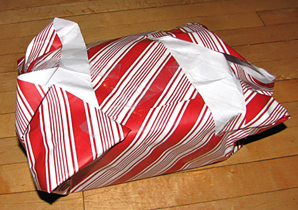 My bad wrapping capabilities.