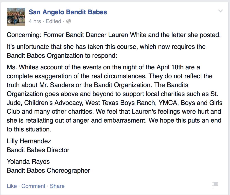 Bandit Babes Statement