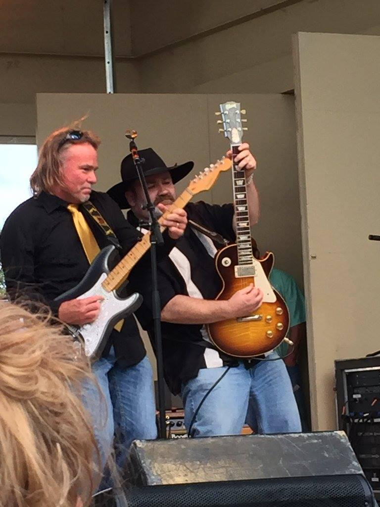 Kevin Collins and Stephen McLaughlin, guitarists for Boogie Town. (Facebook)