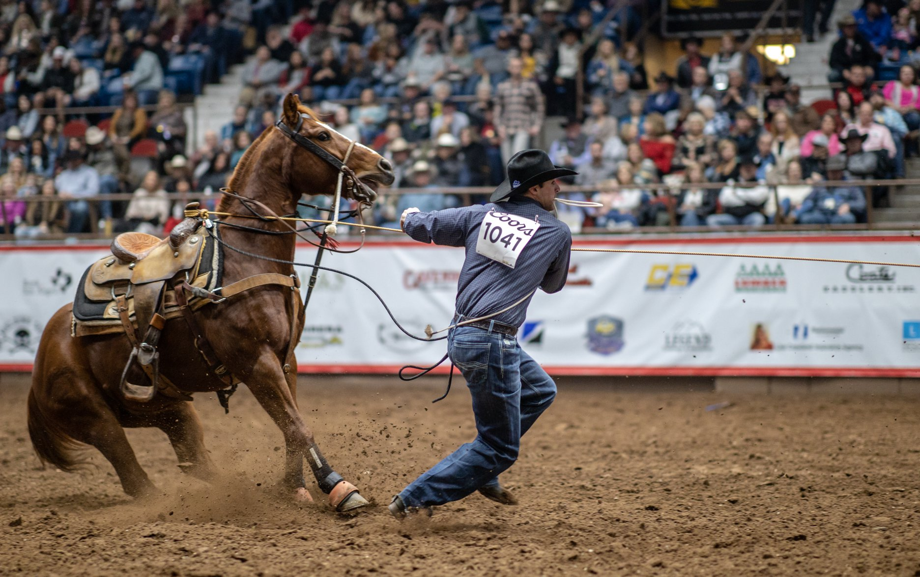 Bryson Seacrest at the Short Go of the 2020 San Angelo Rodeo on Feb. 14, 2020. (LIVE! Photo/Shawn Morrow)