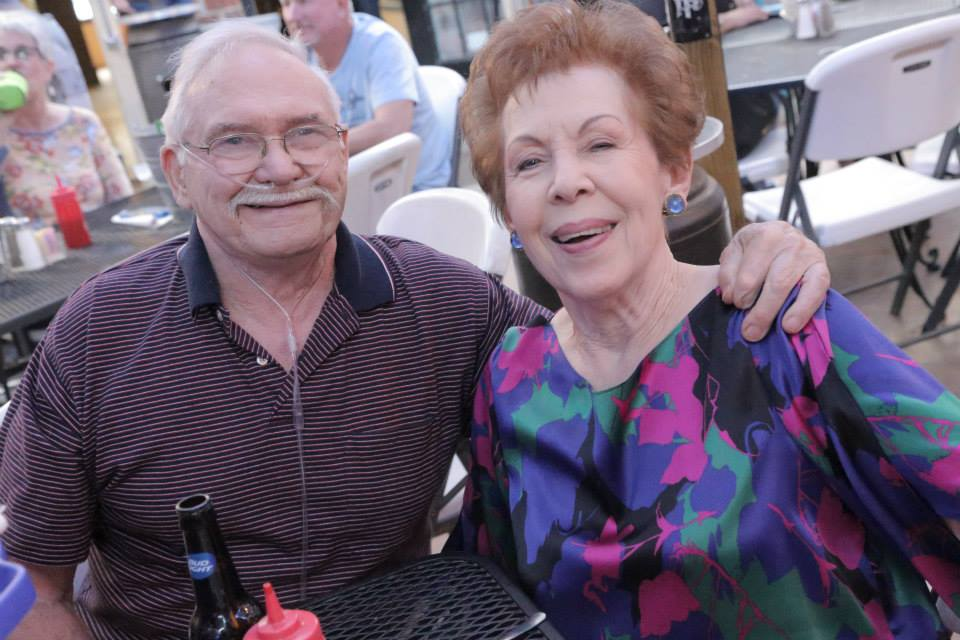 San Angeloans Ed and Carlene Griscom enjoying the sights and sounds of downtown (Photo courtesy Carlene Griscom)