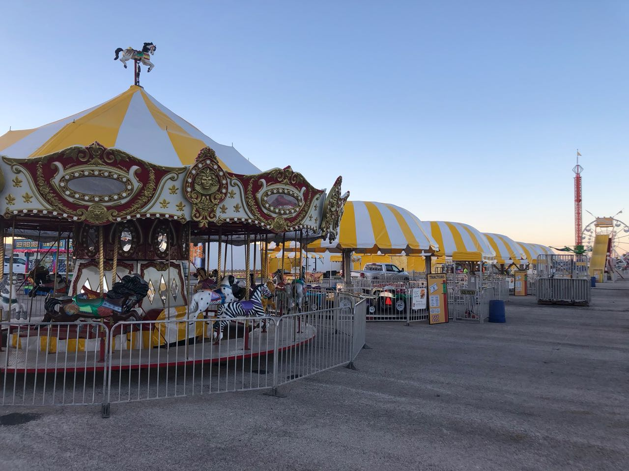 The Sutliff & Stout, Injury & Accident Law Firm Carnival was getting set-up on Thursday evening, Jan. 30, 2019. (LIVE! Photo/Joe Hyde)