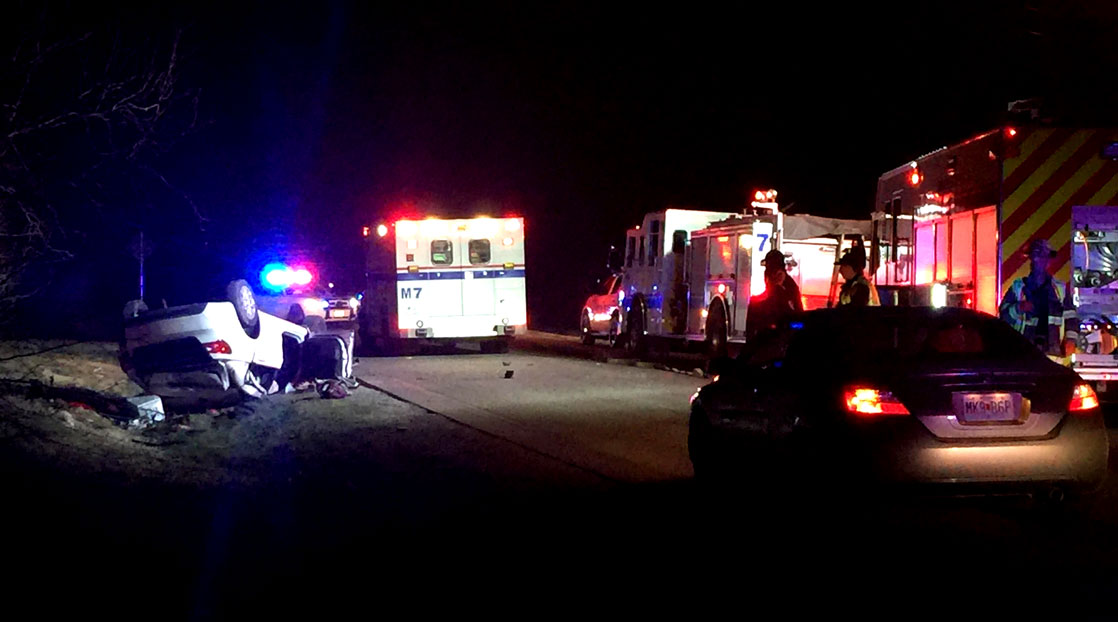 Early morning crash on Country Club and Grand Canal Rd. (LIVE! Photo/John Basquez)