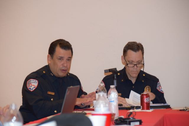 Chief Vasquez and Assistant Chief Jeff Fant (LIVE! Photo/Brandy Ramirez)