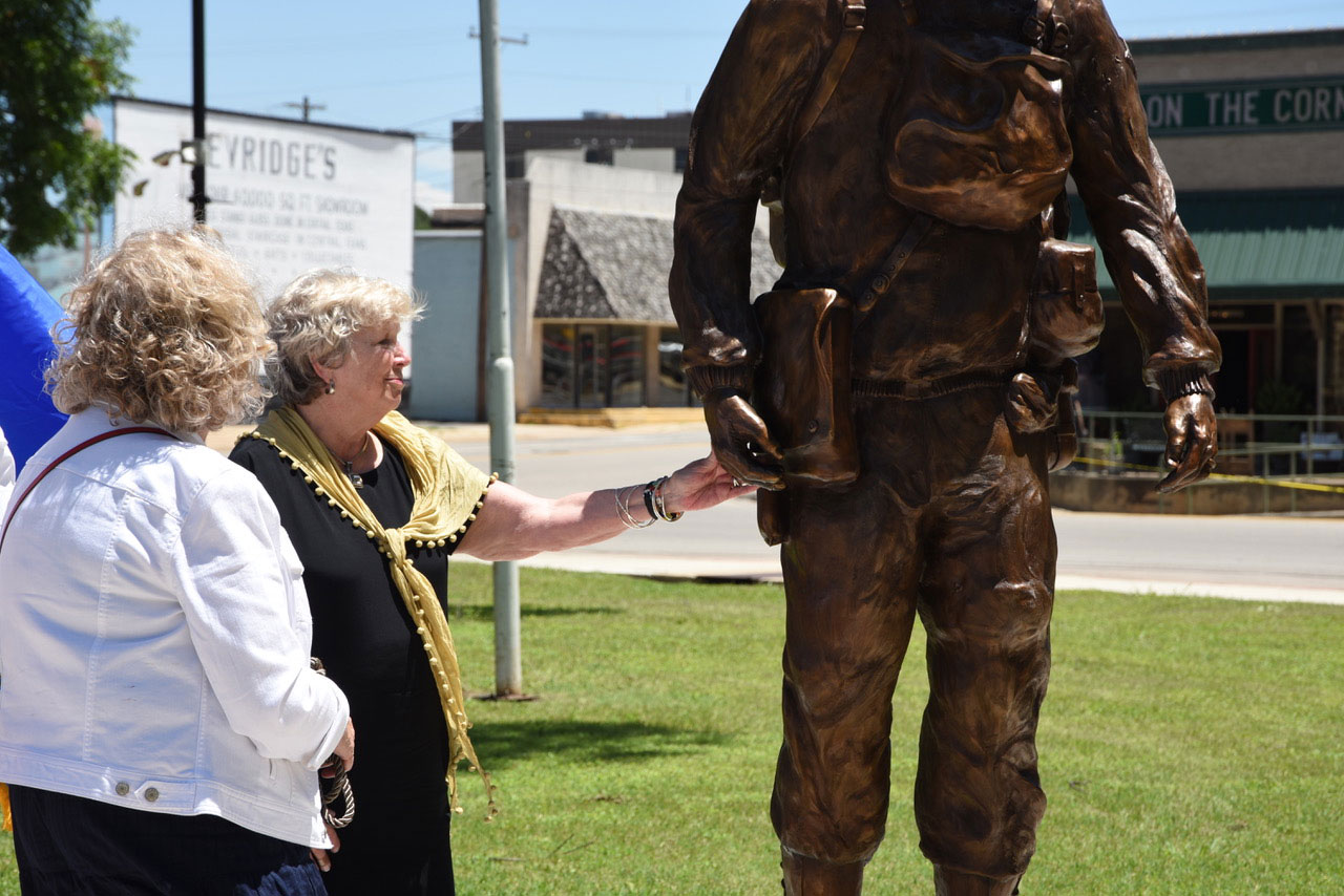 At the dedication to Earl Rudder at the Brady Square last week. (Brady Standard-Herald)