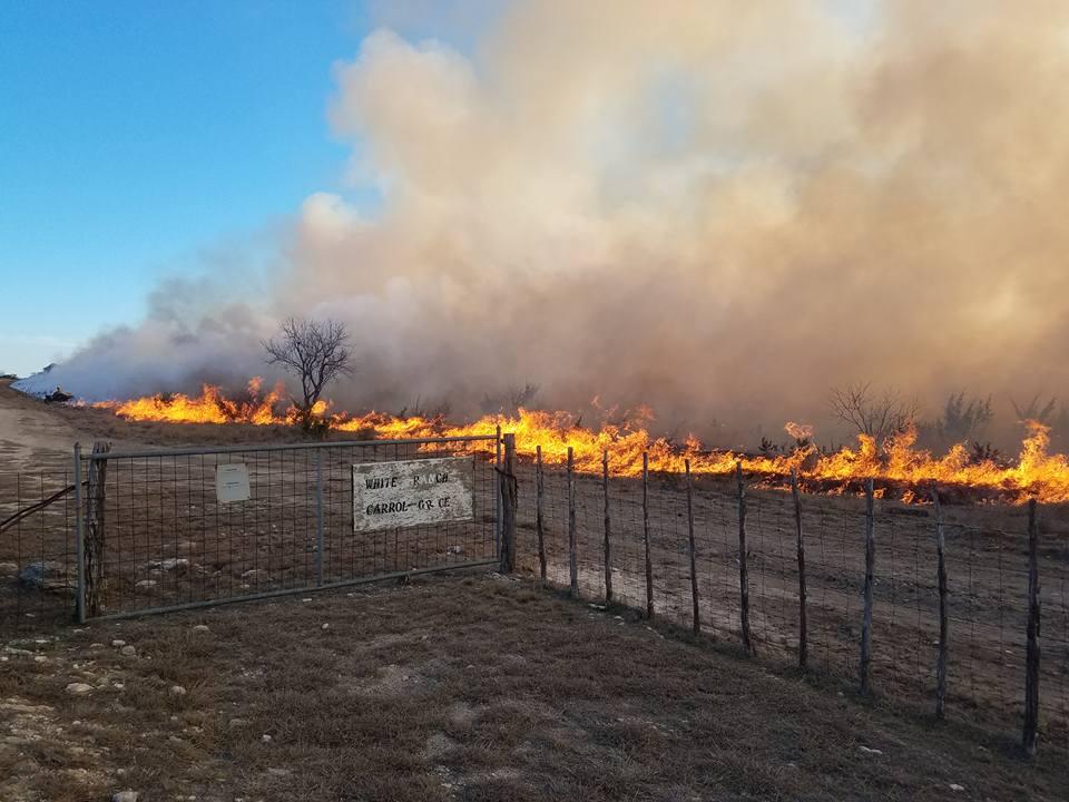 Schleicher County Wildfire.  Christoval VFD photo