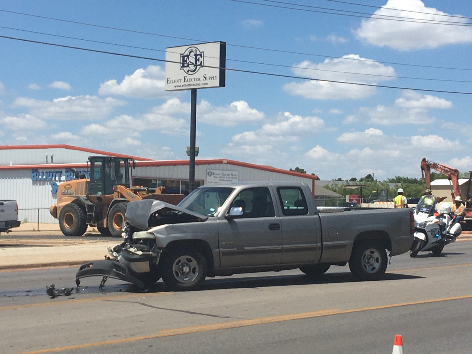 At least two trucks involved in an accident in the 3500 Block of Sherwood Way