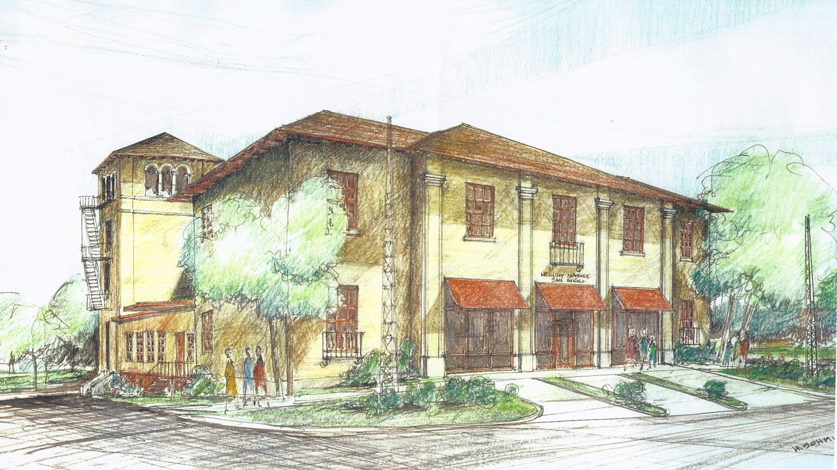 The rendering of The Old Firehouse Bed and Brew. (Contributed/Jody and Michele Babiash)