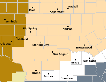 Fire Weather Watch Area Map from NWS