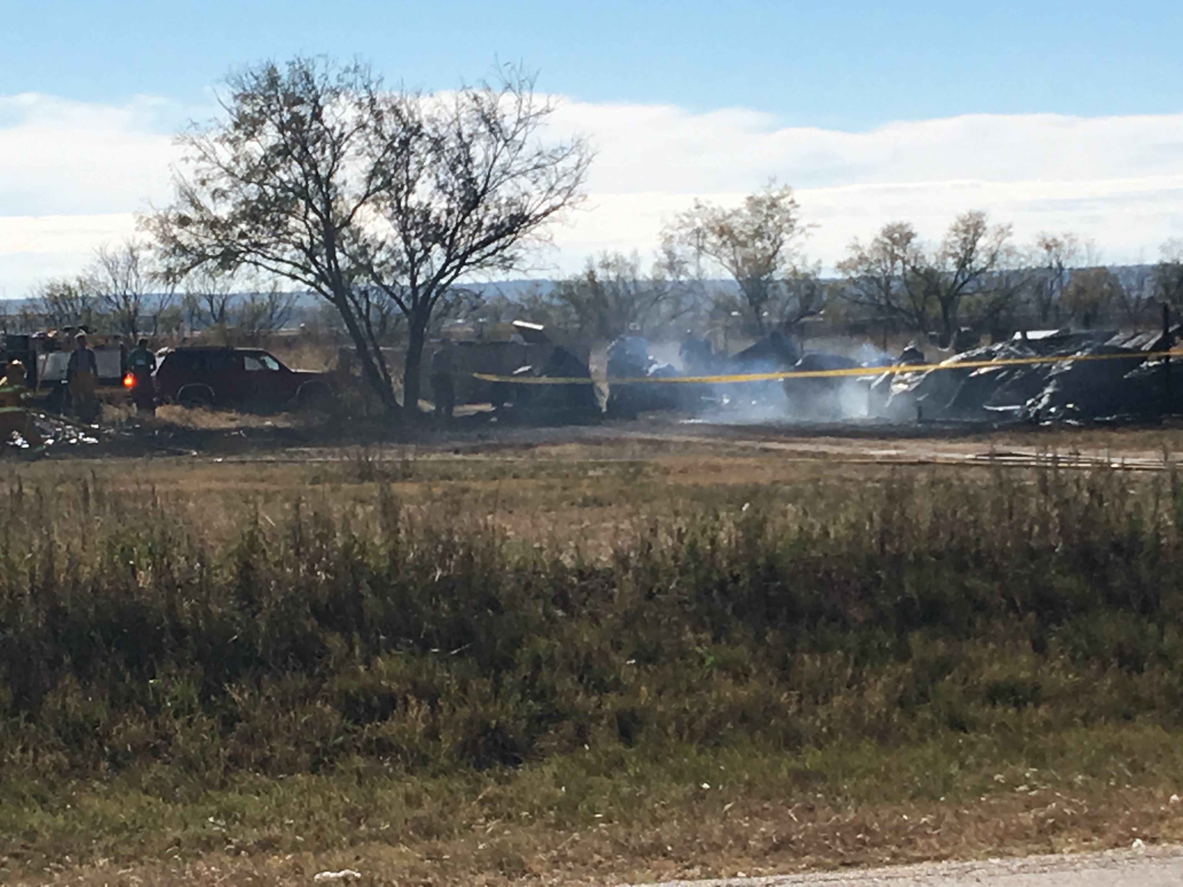house fire on Grape Creek Rd.  photo by Sam Fowler