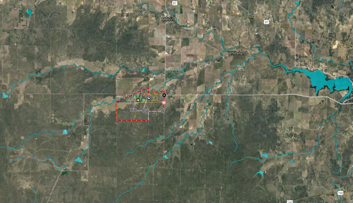 The location of the 2,830 acre Ford-Lightner Ranch. (King Land & Water)