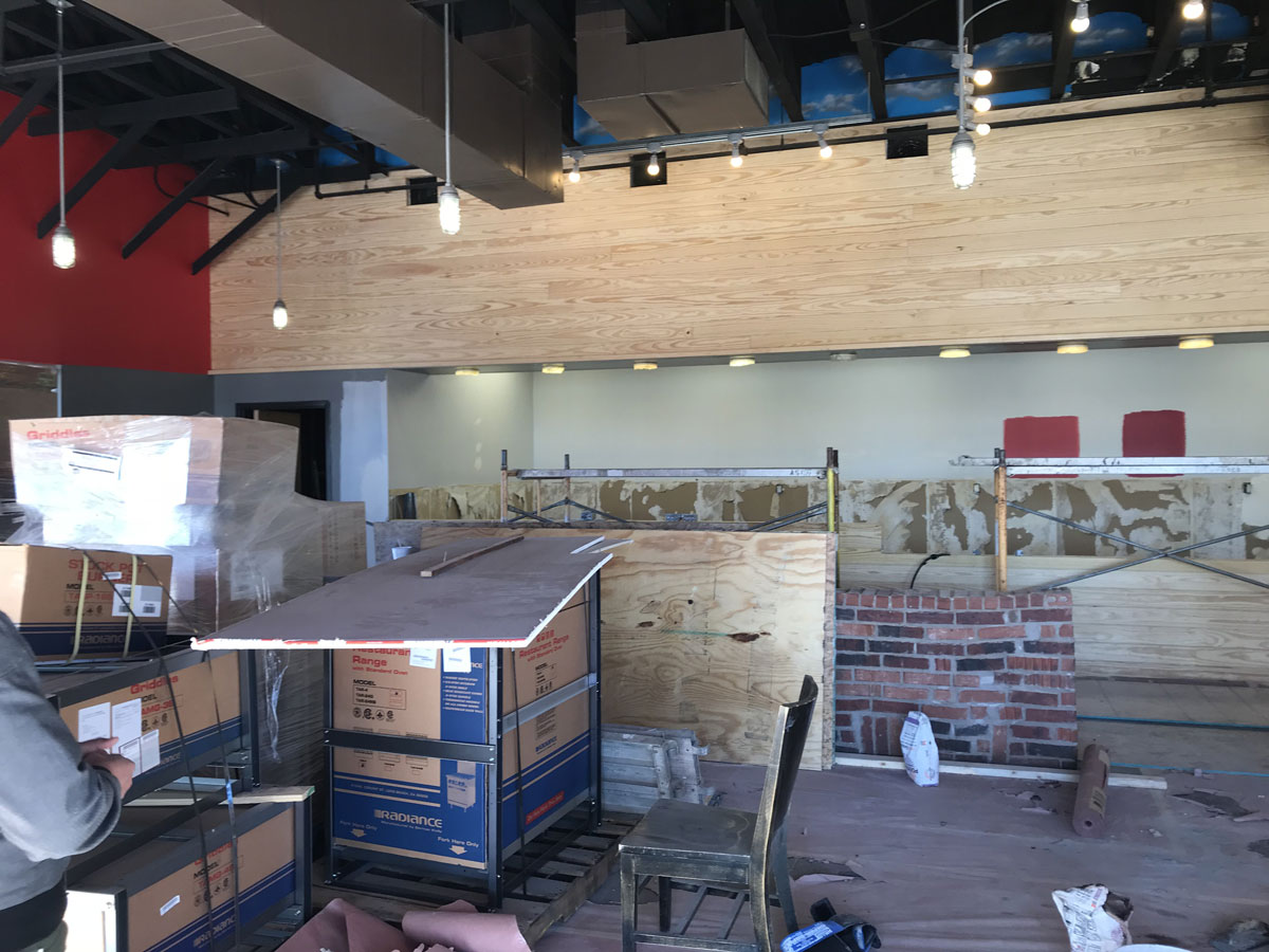 The partners are reconfiguring the inside of the former Freebirds to be a Japanese specialty casual dining restaurant. (LIVE! Photo/Brandy Petty)