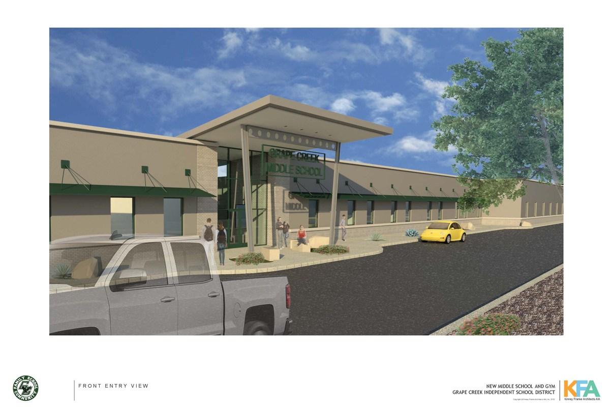 Grape Creek Middle School Graphic.  Grape Creek ISD Image.
