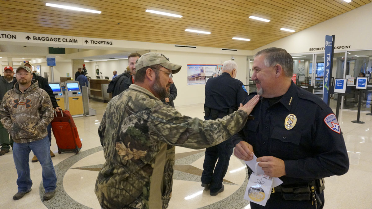 John Gill and San Angelo Police Chief Frank Carter who has been involved in the hunt for years. (LIVE! Photo/Joe Hyde)