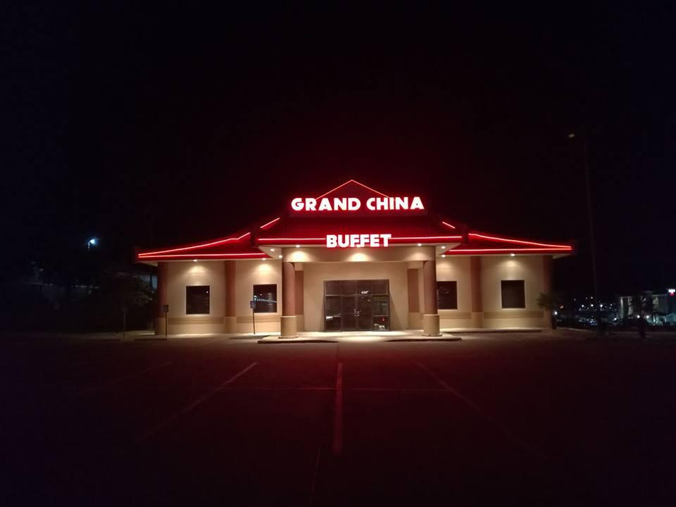Grand China Buffet, at night, photo courtesy of Grand China Buffet.