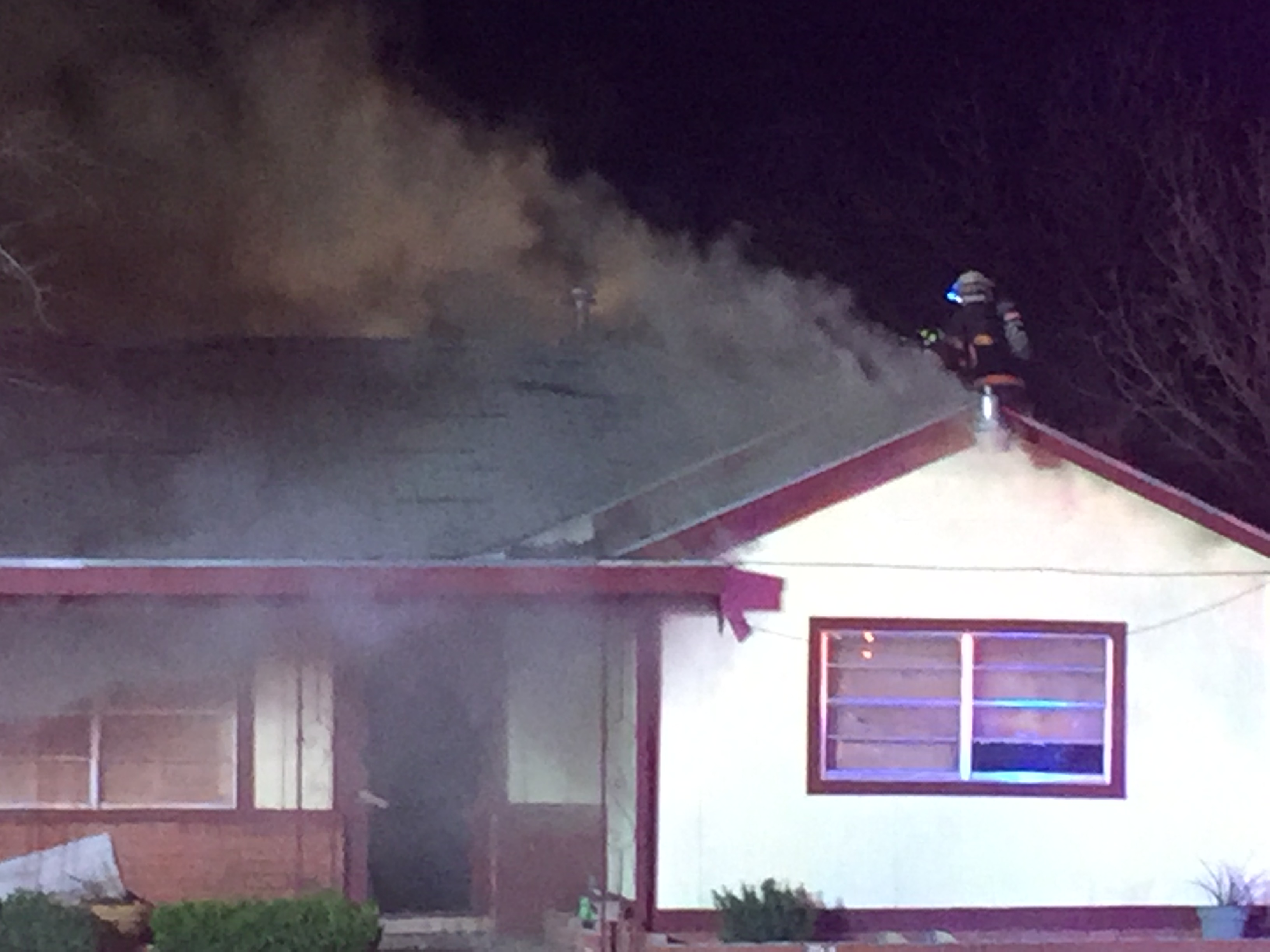 A house catches fire on 23rd St. (LIVE! Photo/Maura Ballard)
