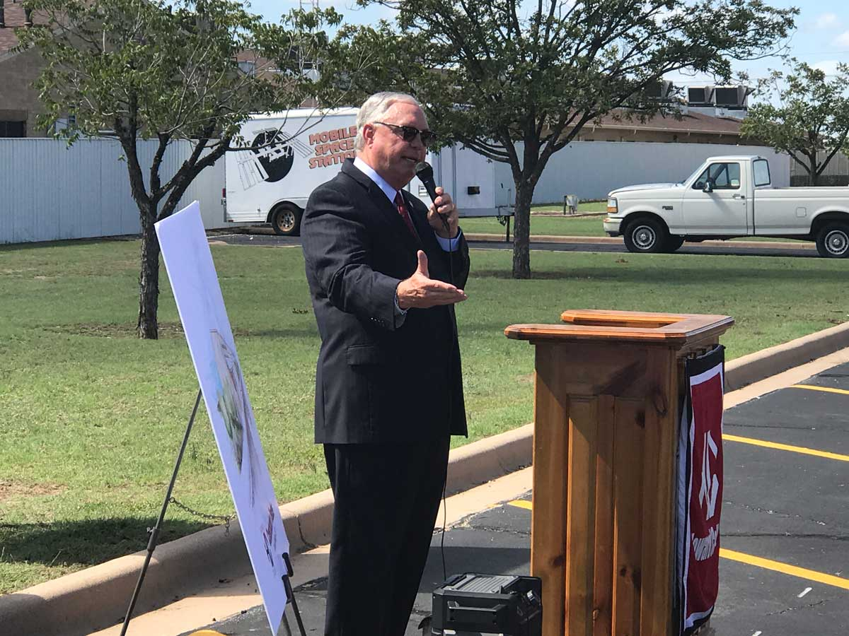 State Rep. Drew Darby keynoted the ground breaking for the Howard College Construction Trades Center. (LIVE! Photo/Joe Hyde)