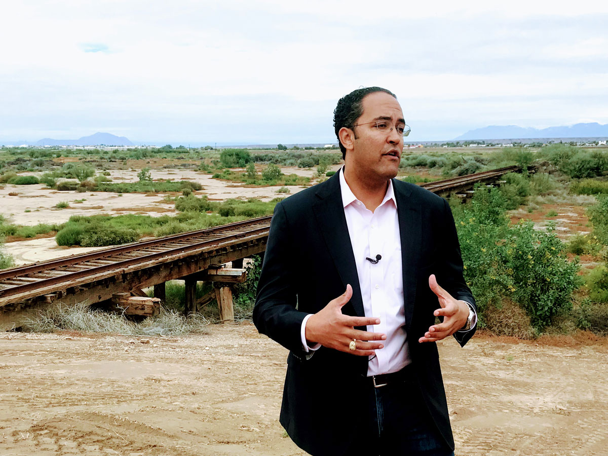 Congressman Will Hurd talks about the challenges of laying the groundwork, and funding, for rehabilitating the South Orient rail line to reach Mexico once again. (Contributed/Rachel Holland)