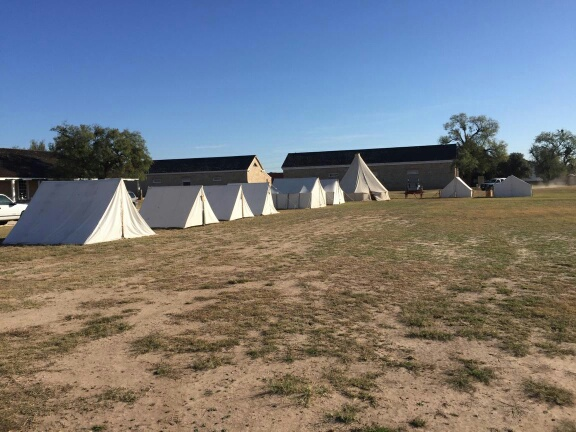 Tents setup on the parade grounds at Ft. Concho.  Live Photo Yantis Green
