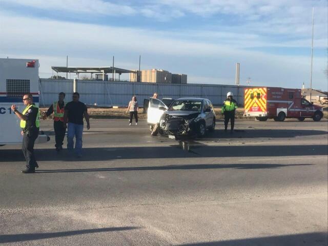 Two Hondas crash on Knickerbocker Rd. sending two to the hospital.  Zoey Hanrahan photo.