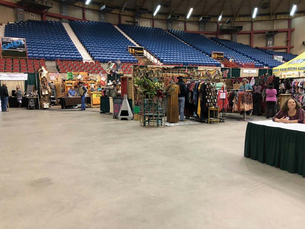 Vendors in the Foster Communications Coliseum at the Cinch Roping Fiesta