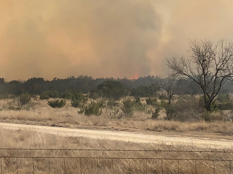 Wildfire in Schleicher County.  Sam Fowler photo.