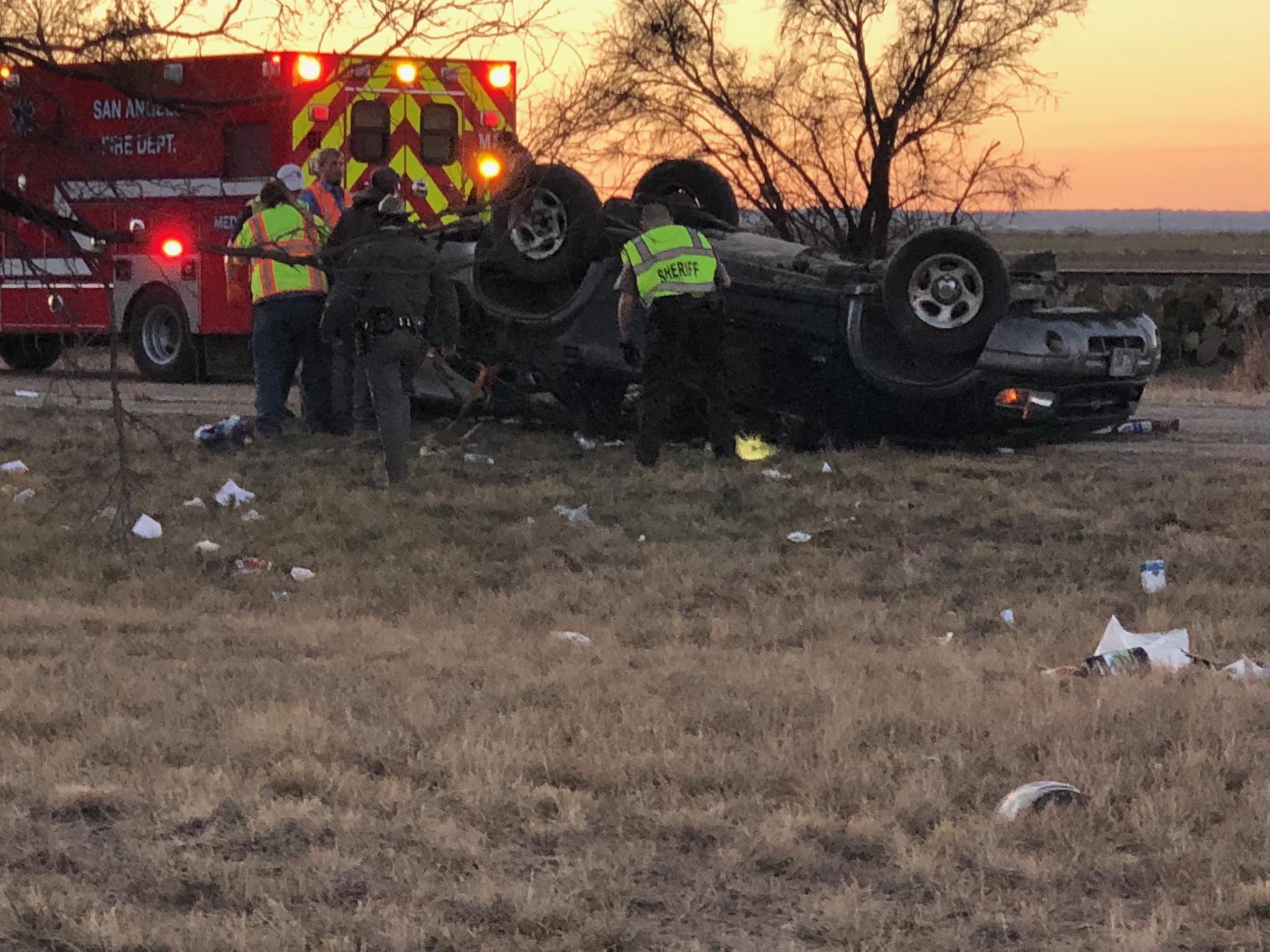 Ford Explorer Crashes on Douglas Loop at US 67.  Sam Fowler photo.