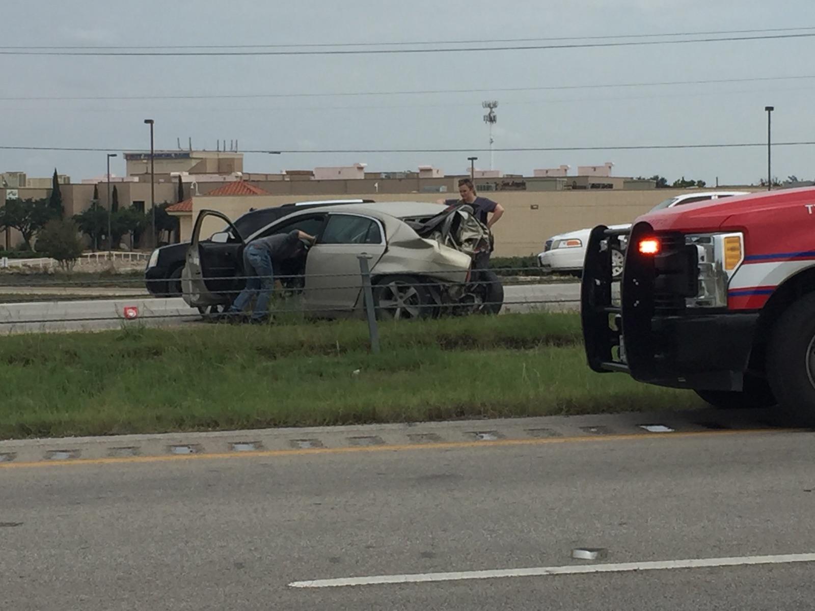 Two Elderly people in this Chevy were injured Saturday on loop 306