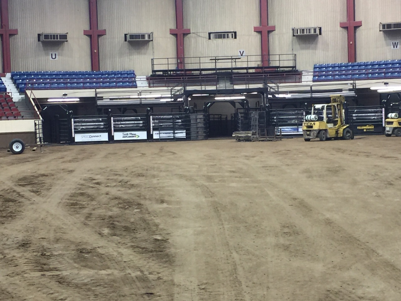 Coliseum ready for rodeo 2018.  Yantis Green photo