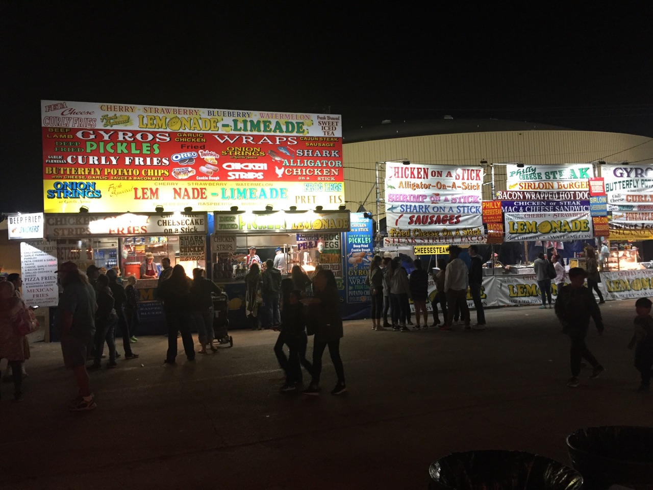 Food Vendors on the Midway at the San Angelo Stock Show & Rodeo.  Yantis Green photo.