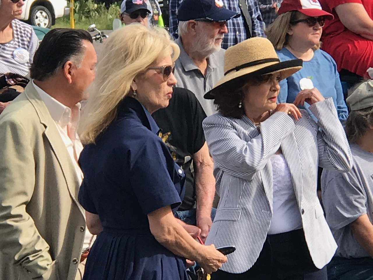 San Angelo Mayor Brenda Gunter at the memorial. (LIVE! Photo/Joe Hyde)
