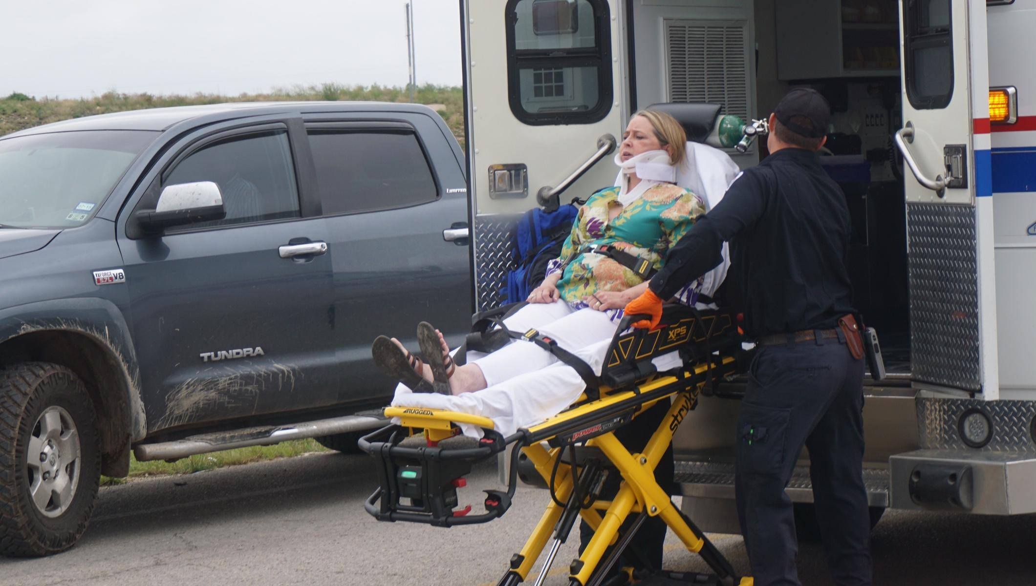 Jaws of Life Used to Extract Passenger in U.S. 277 Crash on May 20, 2015. (LIVE! Photo/John Basquez)