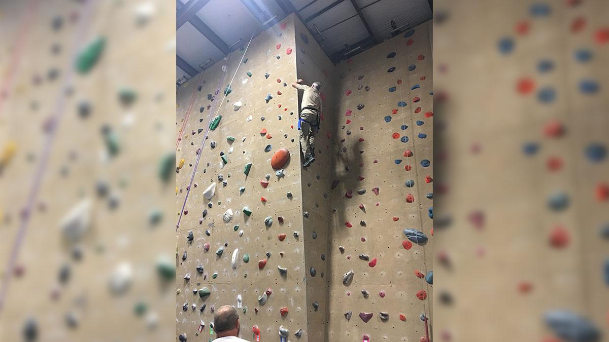"""My kind of climbing."" (Contributed/Kendal Hemphill)"