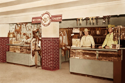 M.L. Leddy's at Houston Livestock Show and Rodeo in 1952
