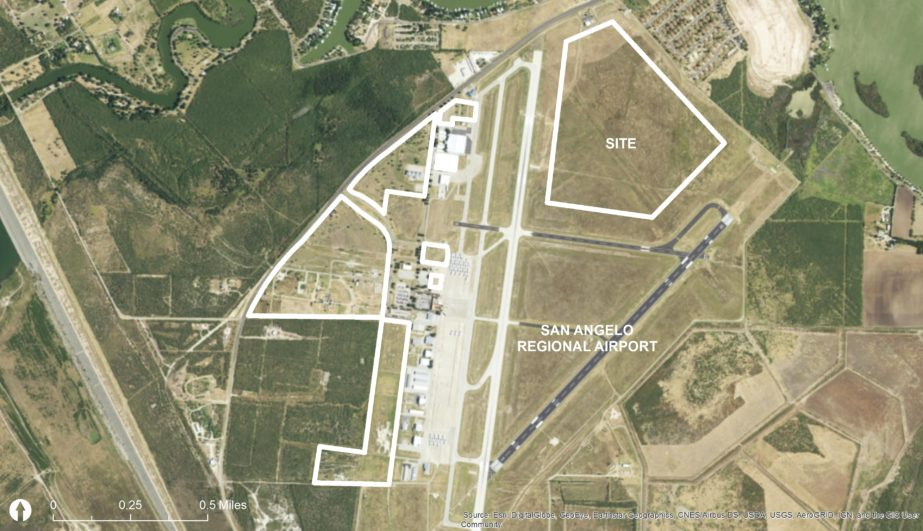 Proposed property around the airport available for development, as published by AEP Texas. (AEP Texas)