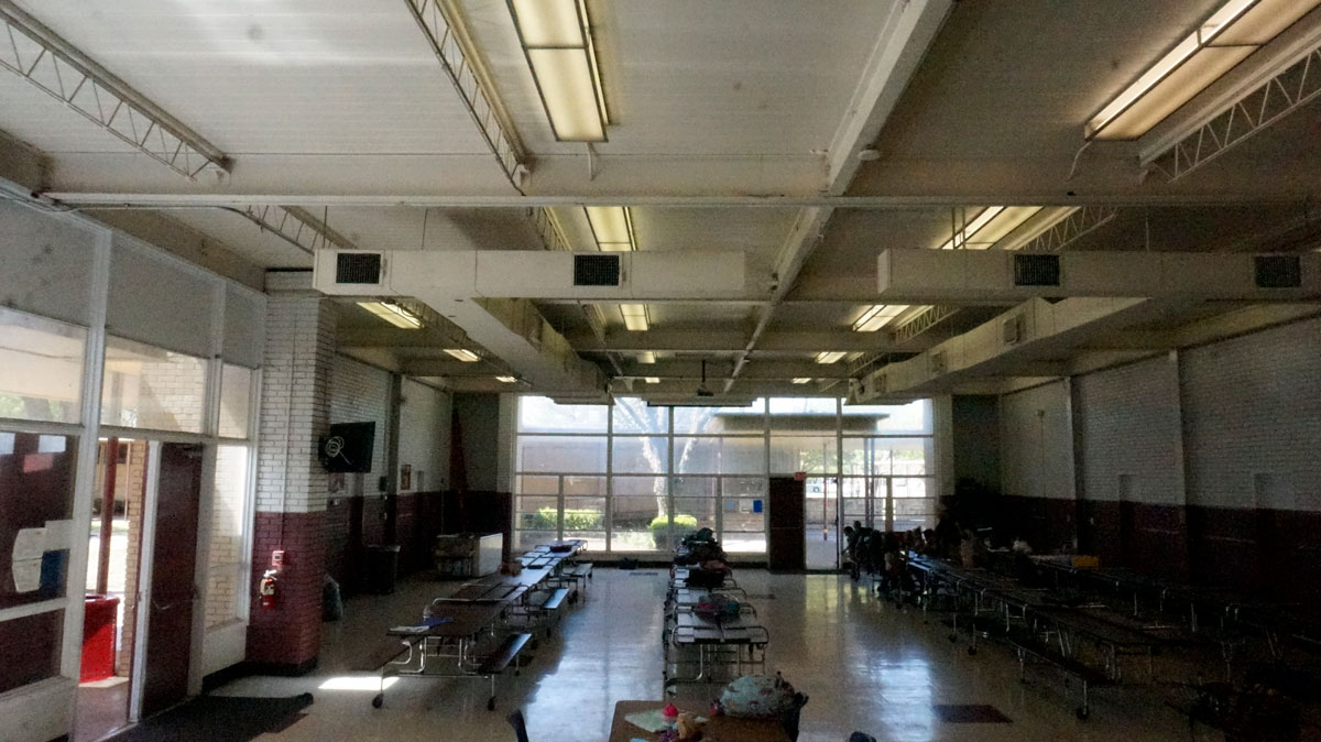 The small, outdated cafeteria at McGill Elementary School. (LIVE! Photo/Joe Hyde)
