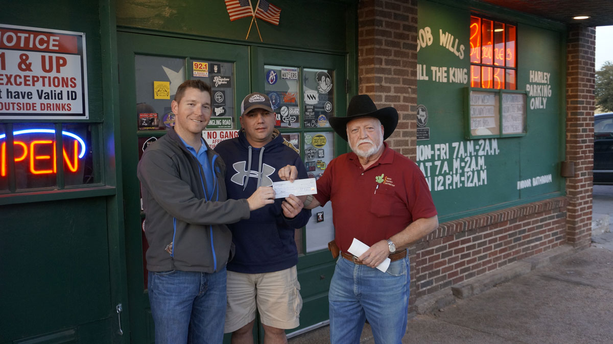 Chase Bruton with Meals for the Elderly with Cody Sturm and Clay Cross. (LIVE! Photo/Joe Hyde)