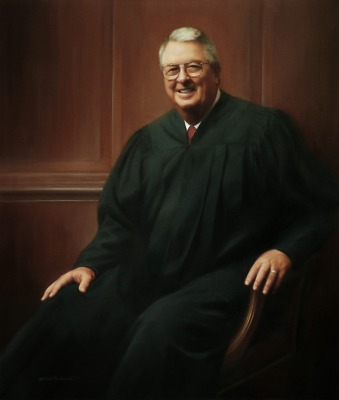 Federal Judge Sam Sparks of the U.S. District Court for the Western District of Texas  (Portrait by Michele Ruschworth Portraiture and other Fine Art)