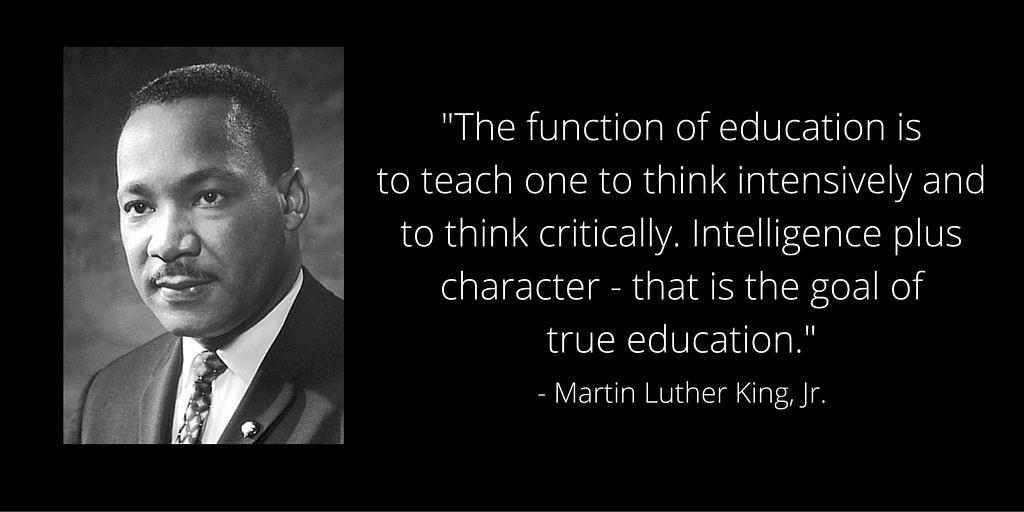 MLK Jr. on Educaiton.  Photo from blog.edx.org