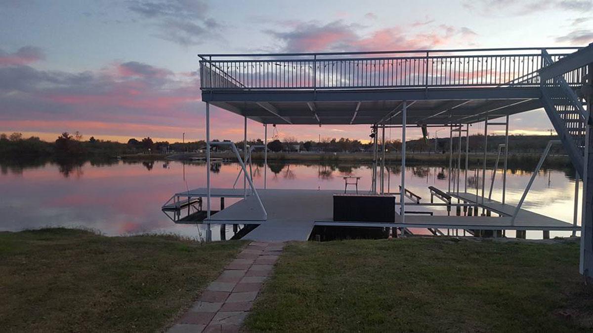 The backyard of the Babiash lake home at 2045 American Legion Road. (Contributed/Jody Babiash)